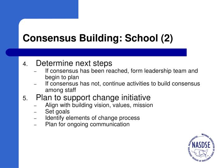 Consensus Building: School (2)