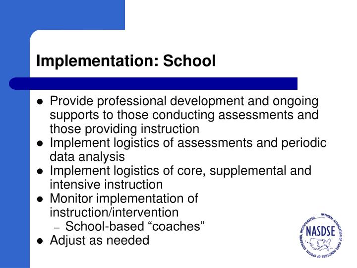 Implementation: School