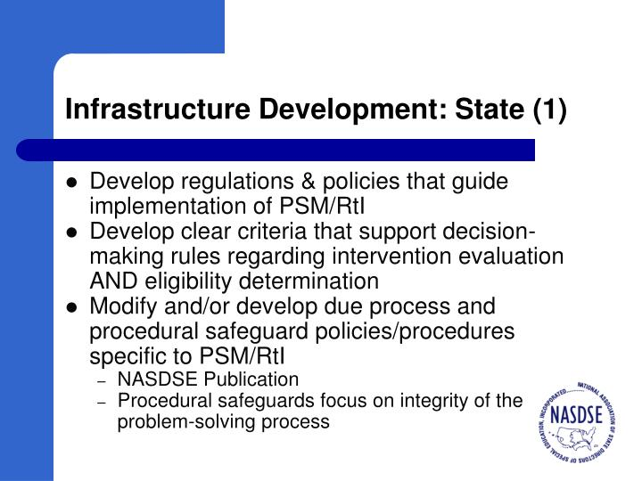 Infrastructure Development: State (1)