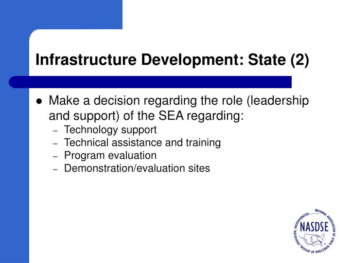 Infrastructure Development: State (2)