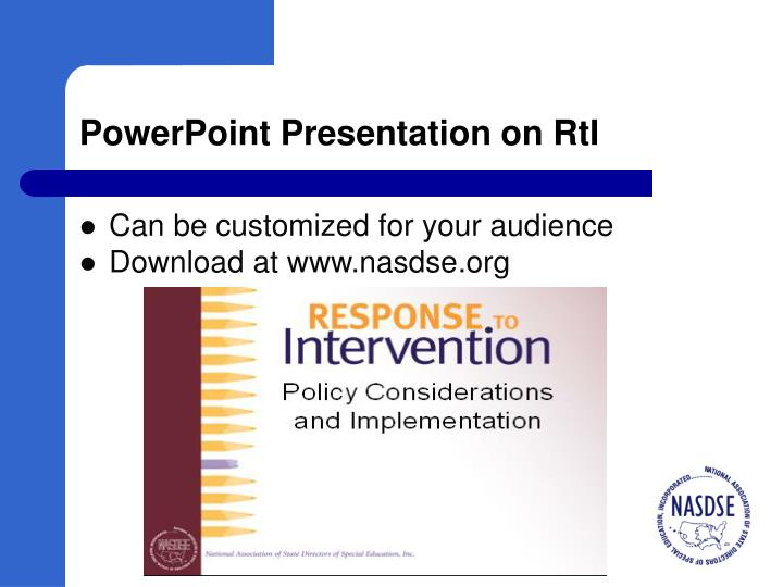 PowerPoint Presentation on RtI