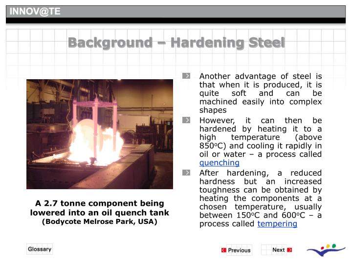 Background – Hardening Steel