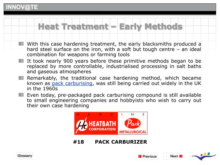 Heat Treatment – Early Methods