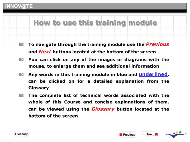 How to use this training module
