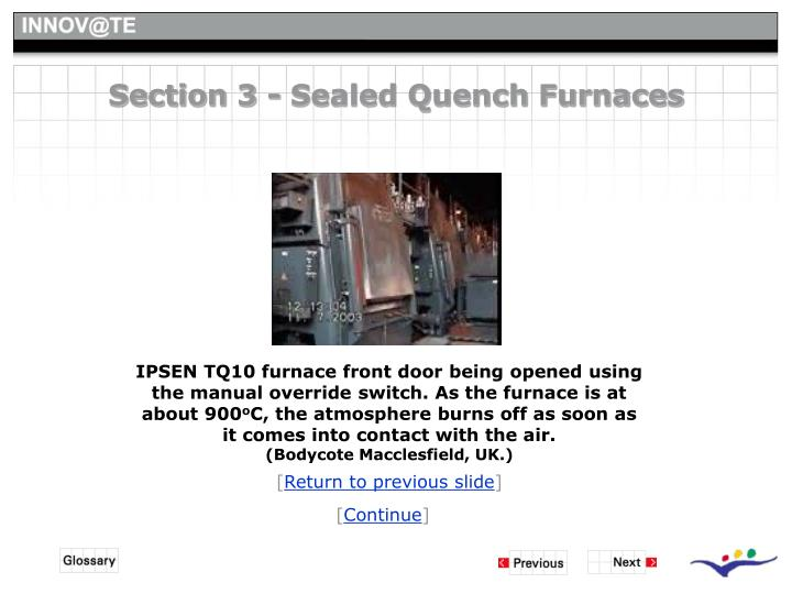 Section 3 - Sealed Quench Furnaces