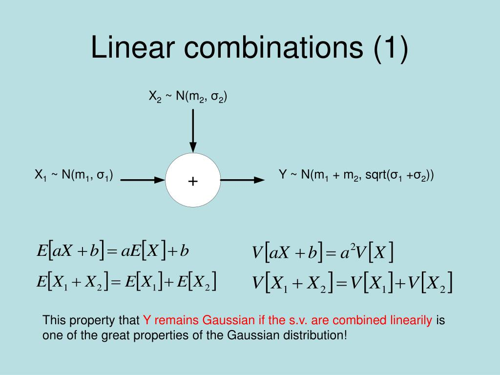 Linear combinations (1)