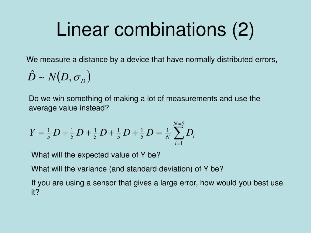 Linear combinations (2)