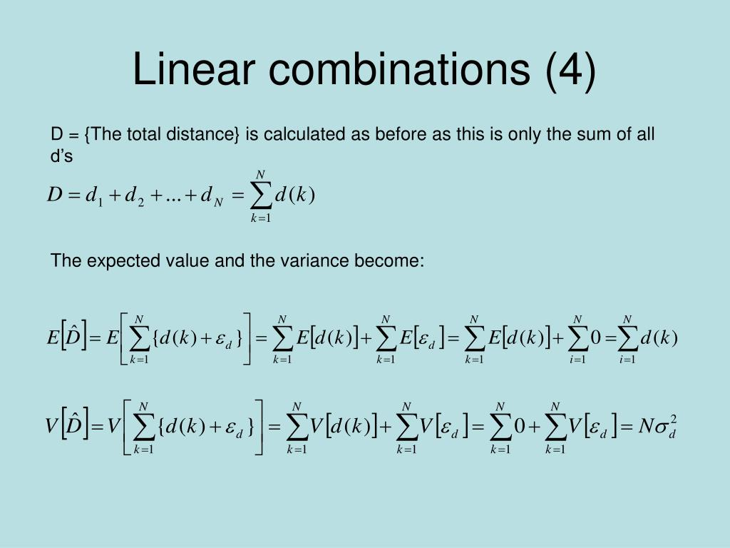 Linear combinations (4)