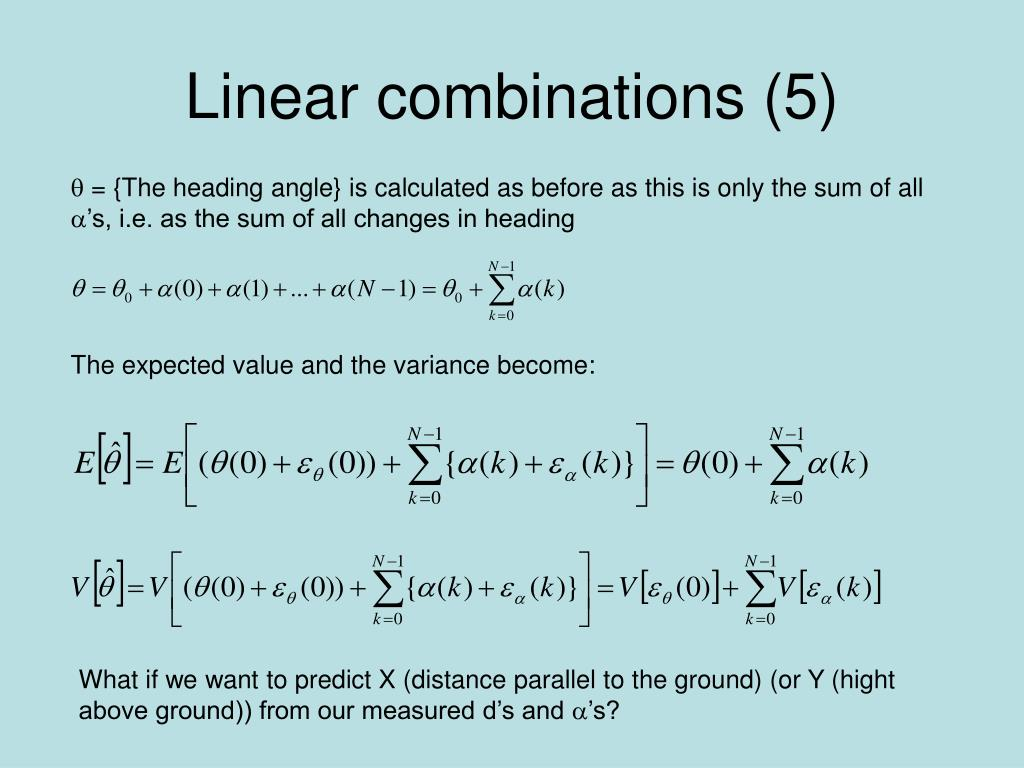 Linear combinations (5)
