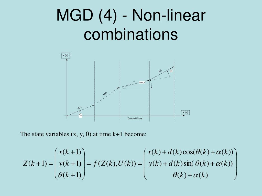 MGD (4) - Non-linear combinations