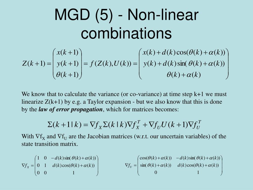 MGD (5) - Non-linear combinations