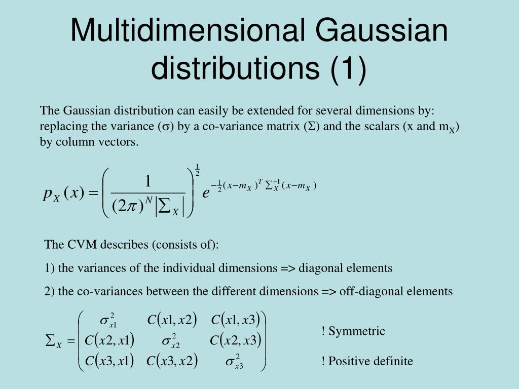 Multidimensional Gaussian distributions (1)