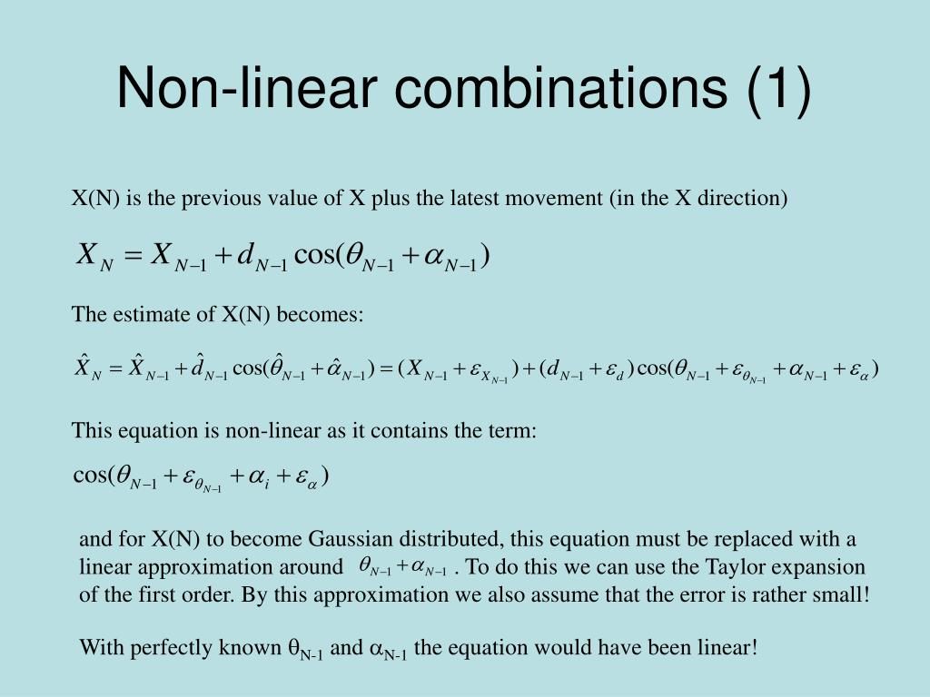 Non-linear combinations (1)