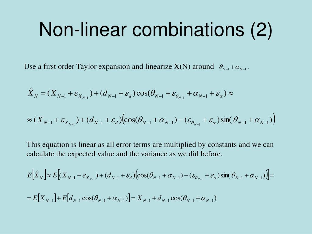 Non-linear combinations (2)