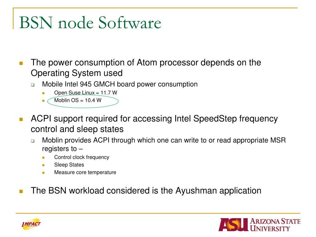 BSN node Software