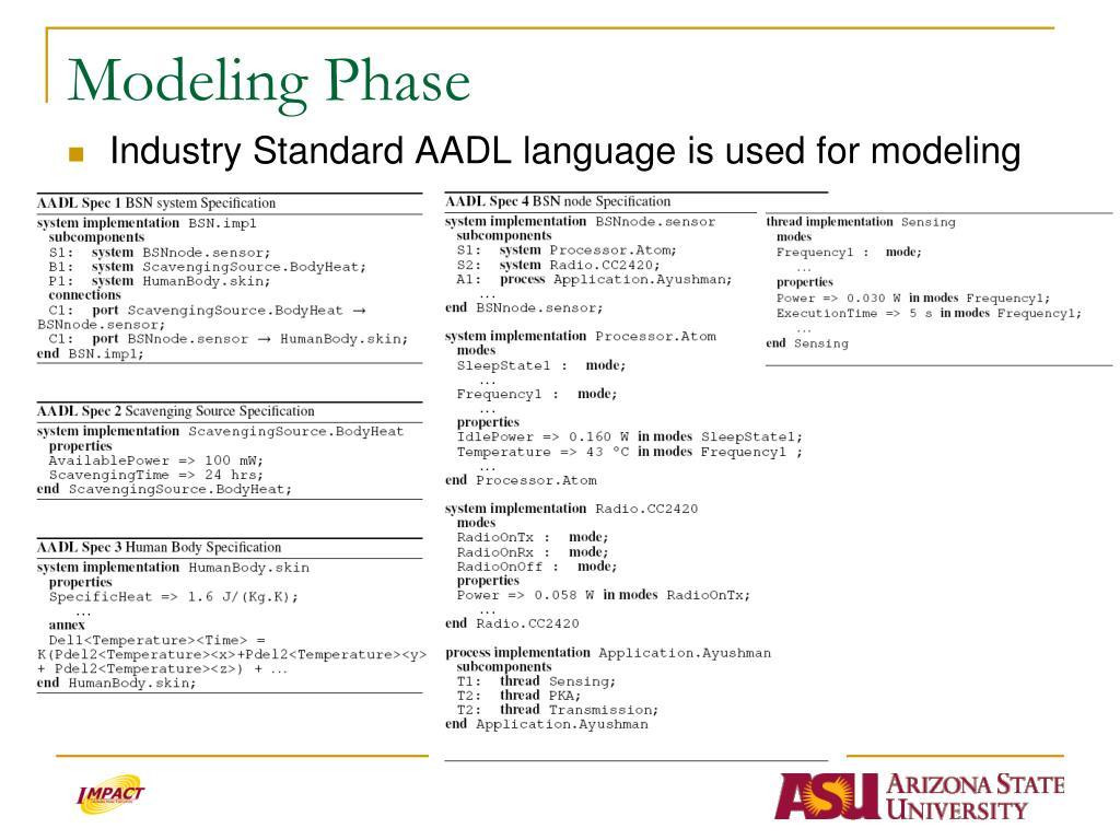 Modeling Phase