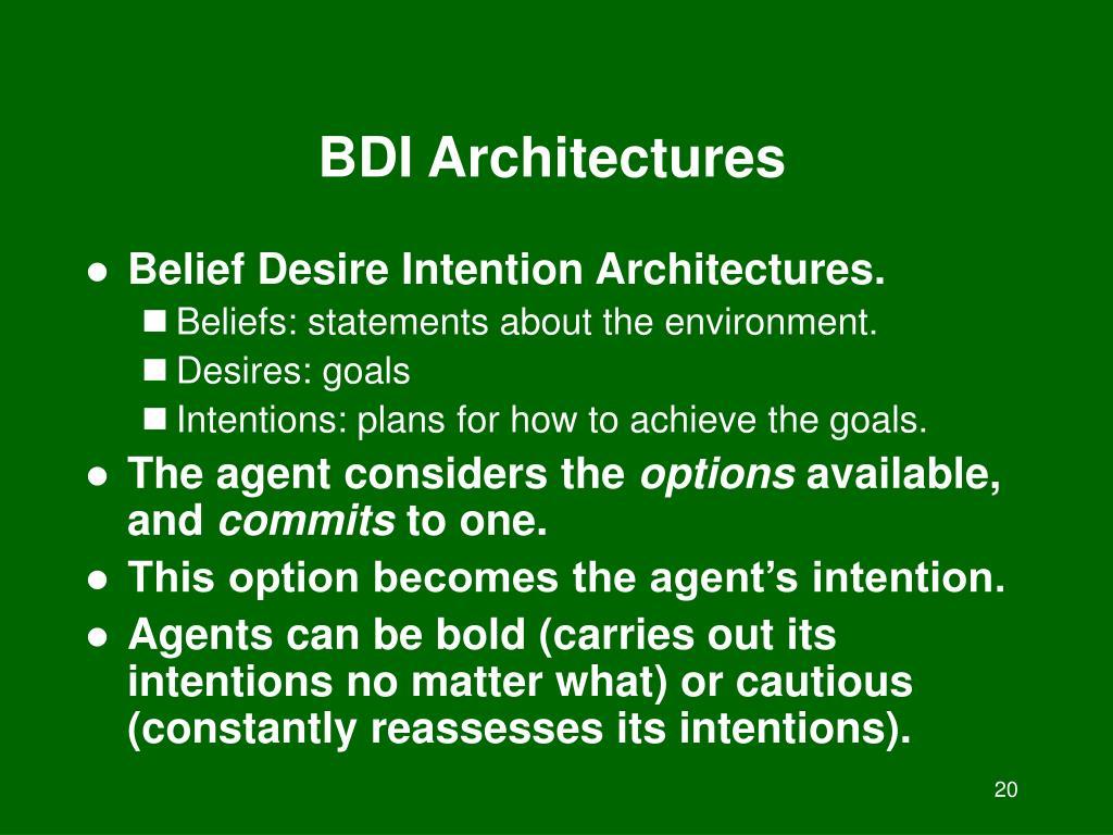 BDI Architectures