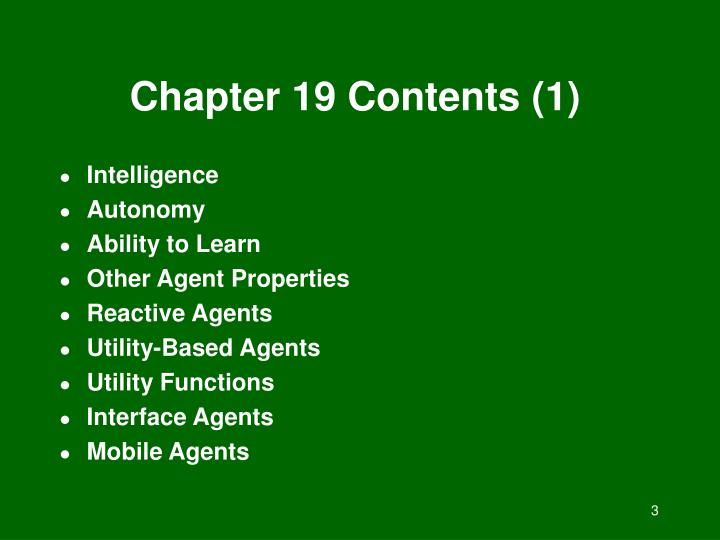 Chapter 19 contents 1