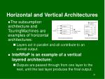 horizontal and vertical architectures
