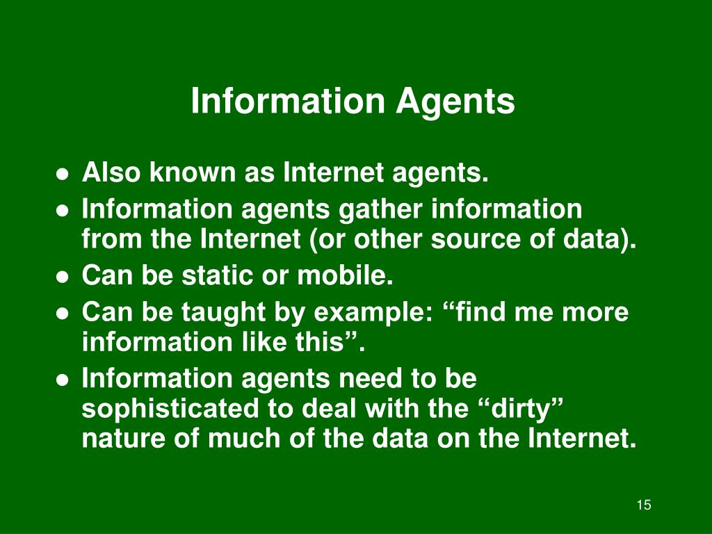 Information Agents