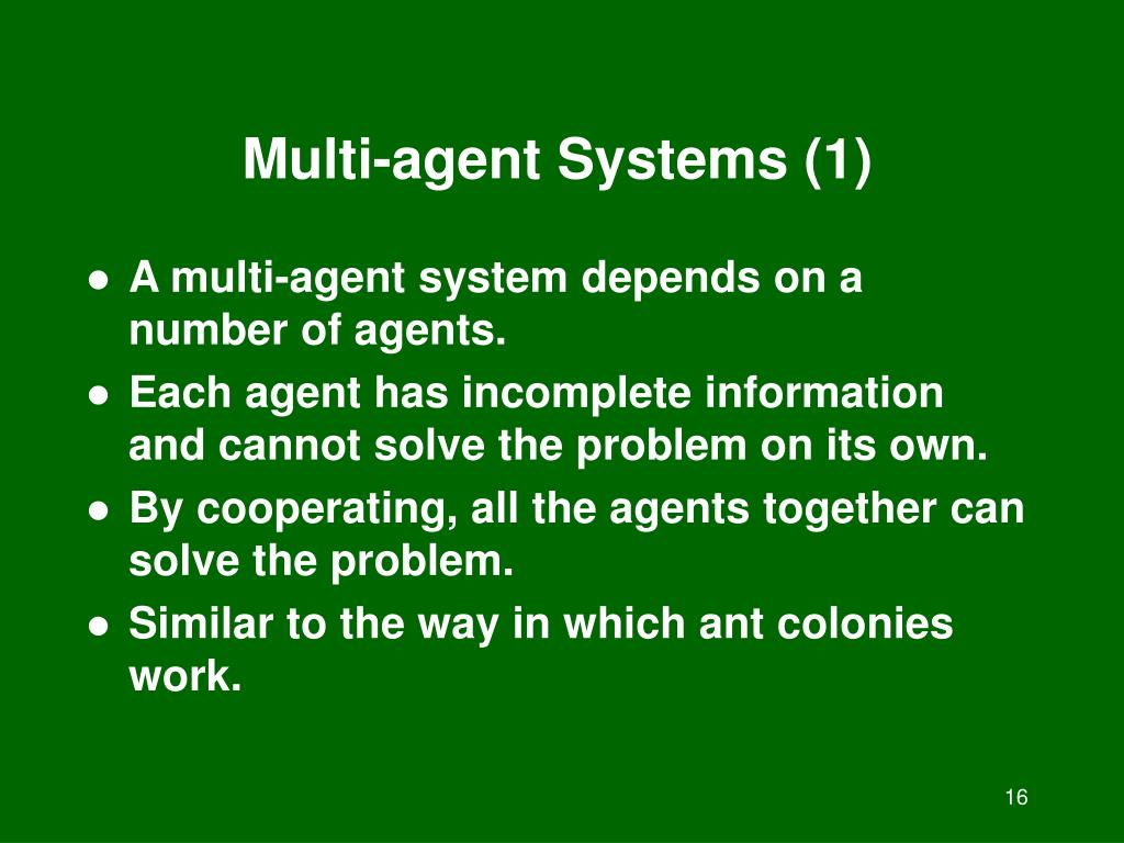 Multi-agent Systems (1)