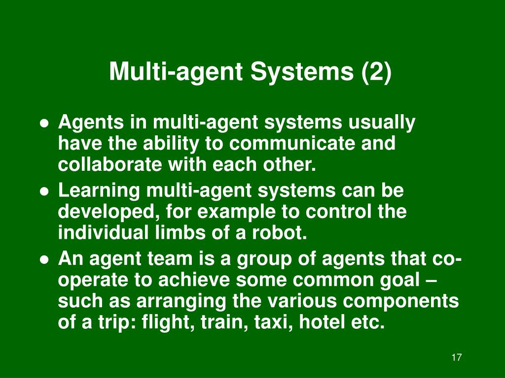 Multi-agent Systems (2)