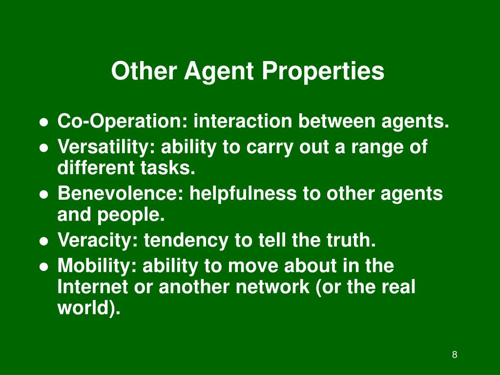 Other Agent Properties