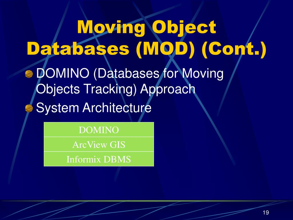 Moving Object Databases (MOD) (Cont.)