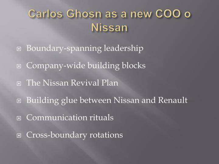 carlos ghosn cross functional teams Find helpful customer reviews and review ratings for turnaround: how carlos ghosn rescued nissan at amazoncom read honest and  cross-functional teams,.