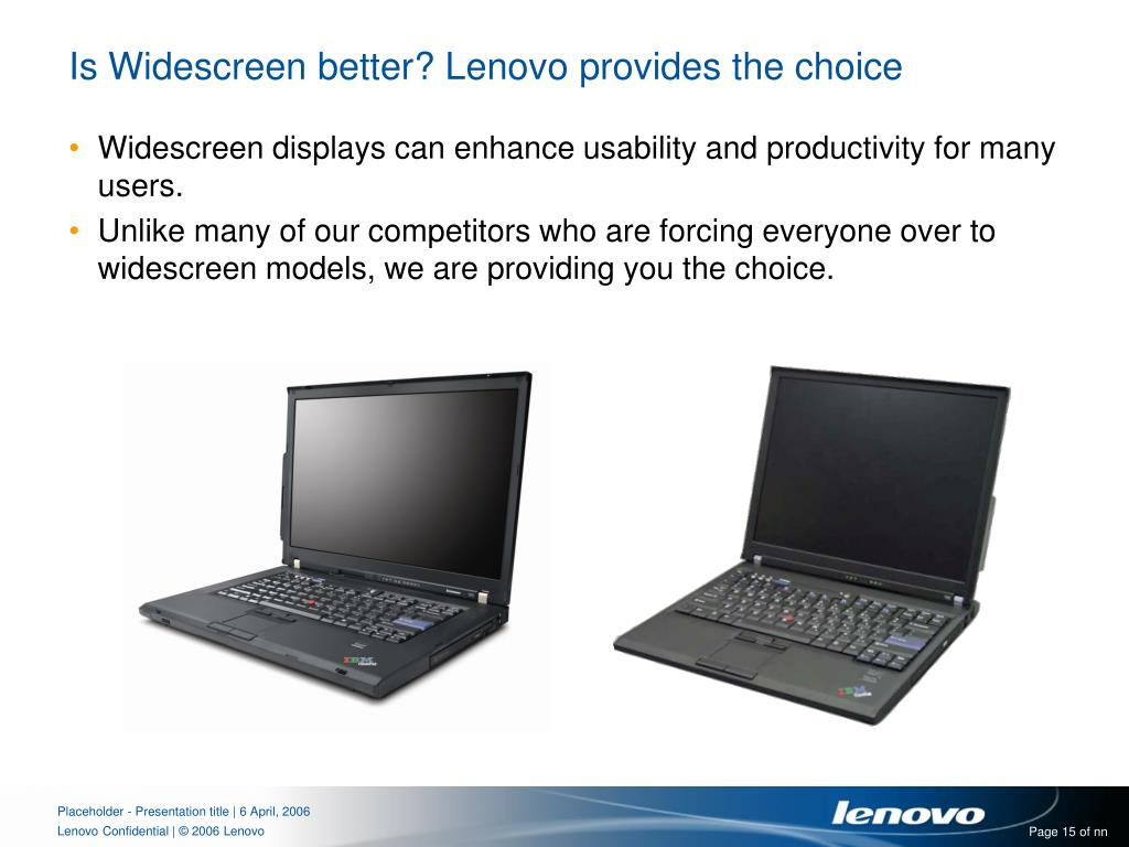 Is Widescreen better? Lenovo provides the choice