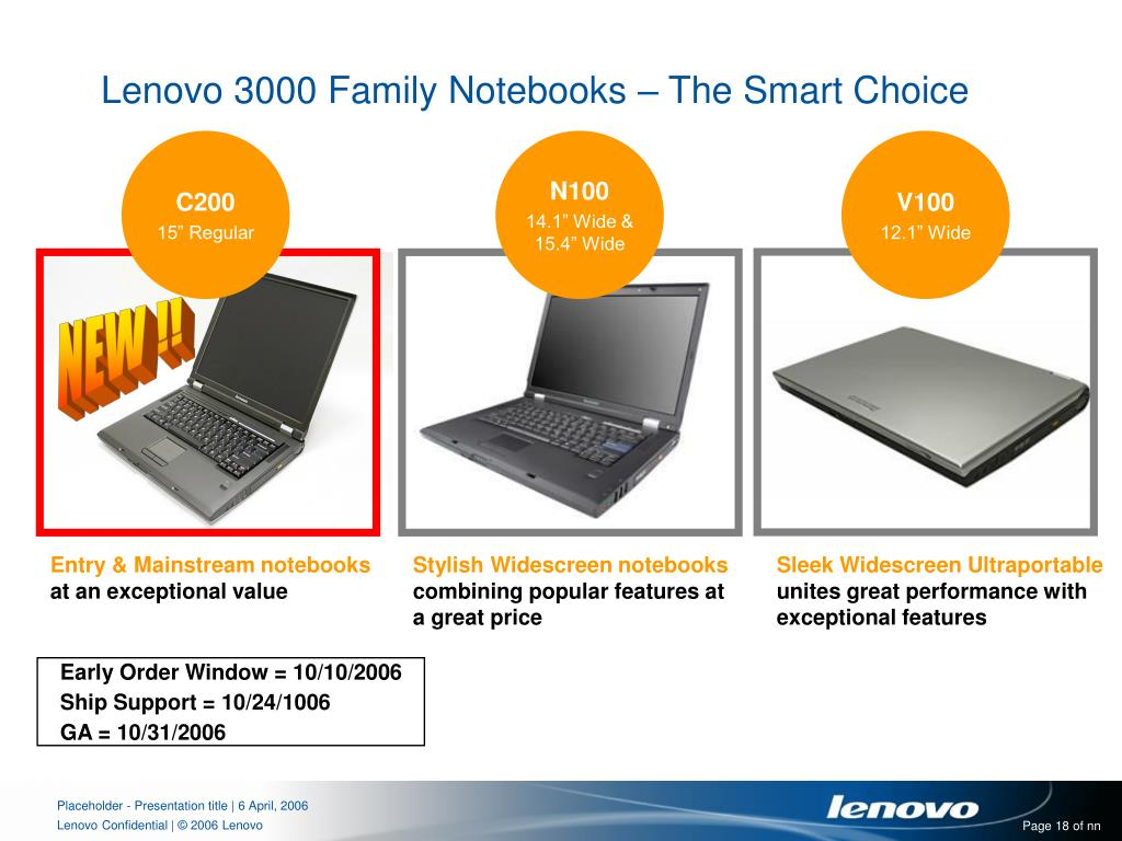 Lenovo 3000 Family Notebooks – The Smart Choice