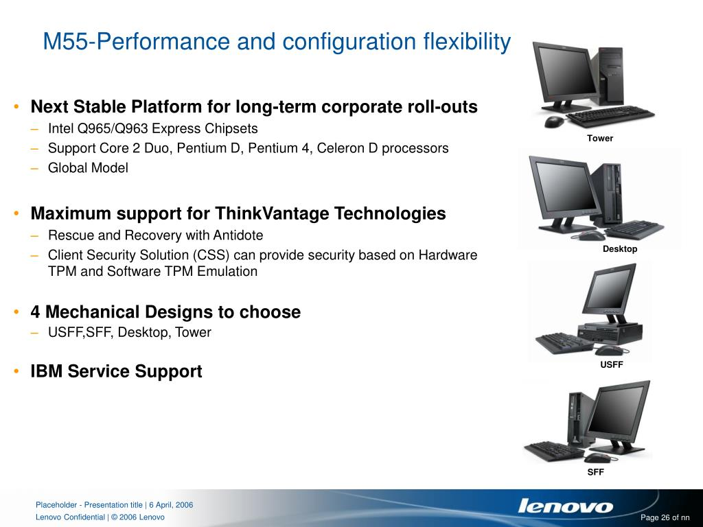 M55-Performance and configuration flexibility