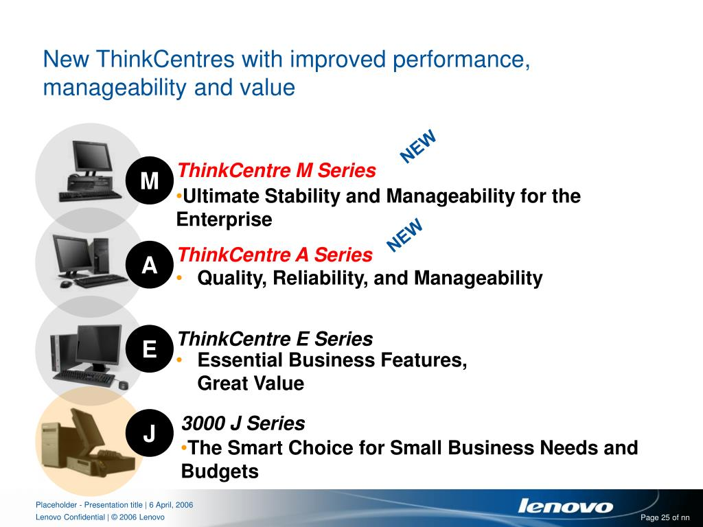 New ThinkCentres with improved performance, manageability and value