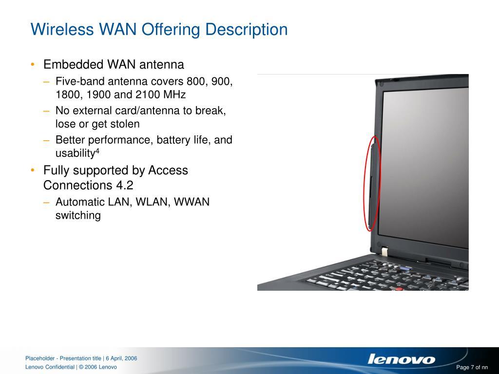 Wireless WAN Offering Description
