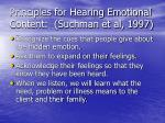 principles for hearing emotional content suchman et al 1997