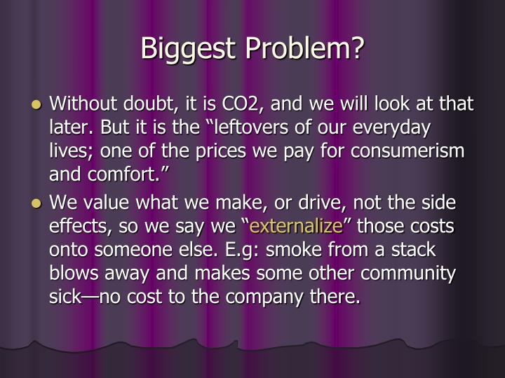 Biggest Problem?