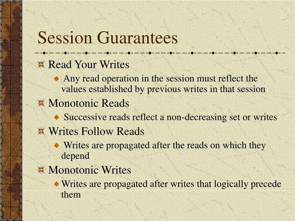 Session Guarantees