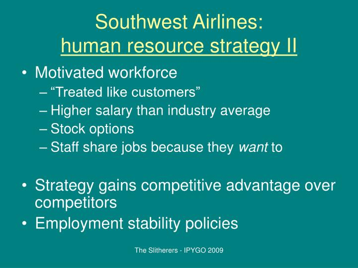 motivational strategies used by southwest airlines