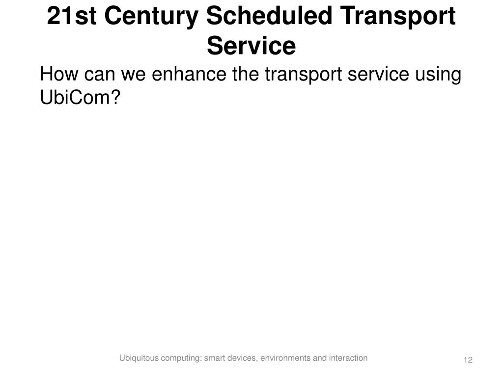 21st Century Scheduled Transport Service