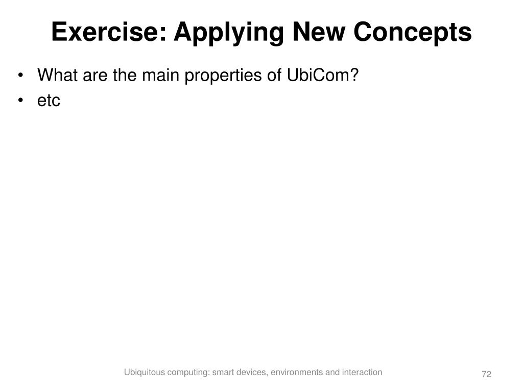 Exercise: Applying New Concepts