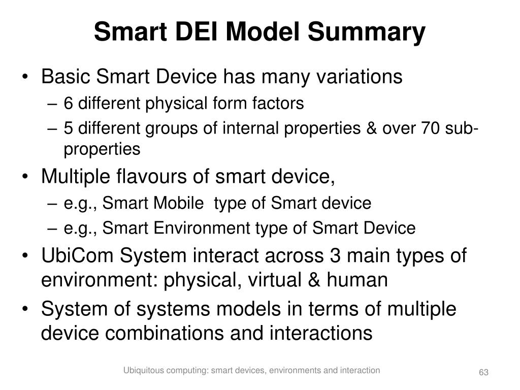 Smart DEI Model Summary