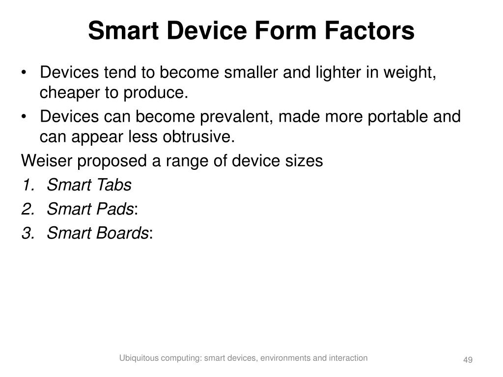Smart Device Form Factors