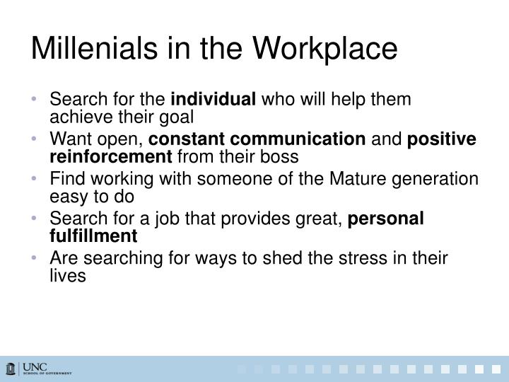Millenials in the Workplace