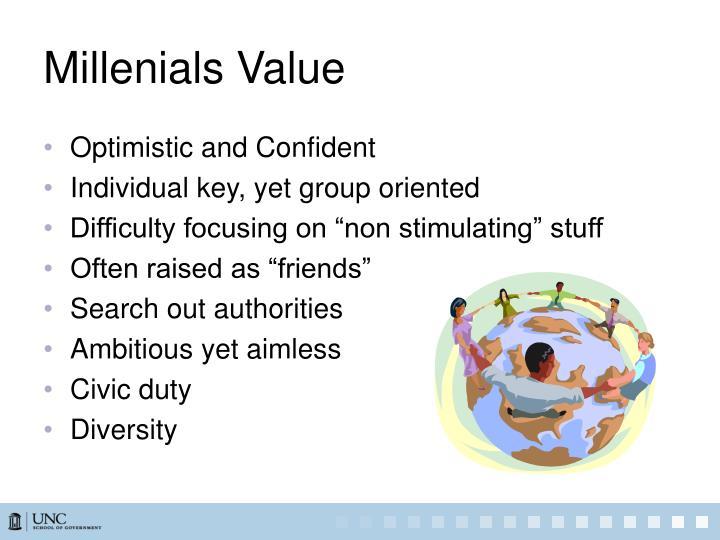 Millenials Value
