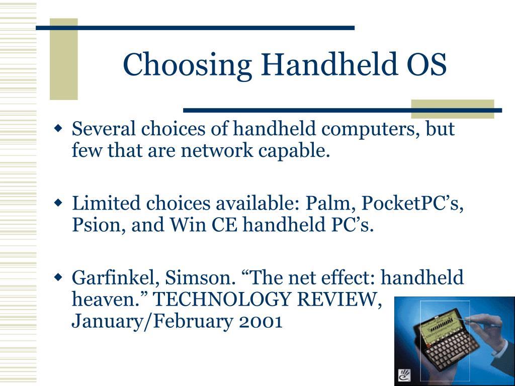 Choosing Handheld OS