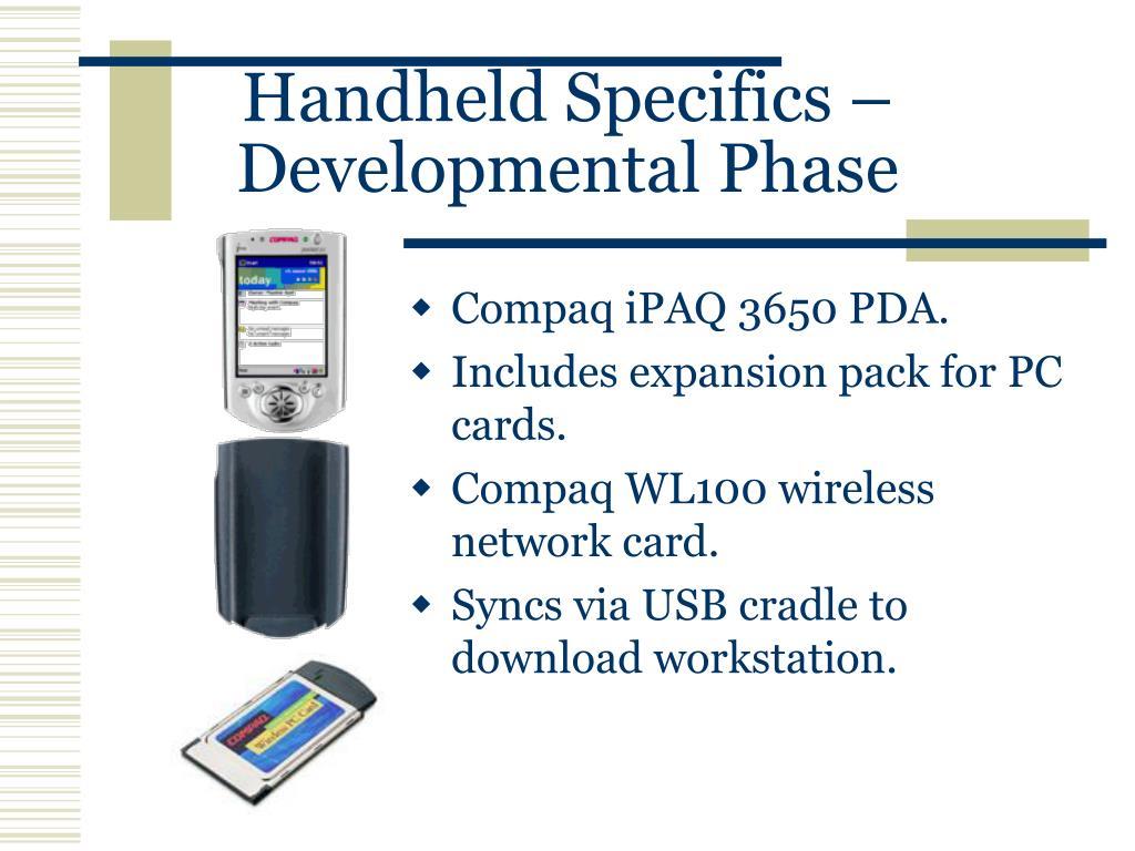 Compaq iPAQ 3650 PDA.