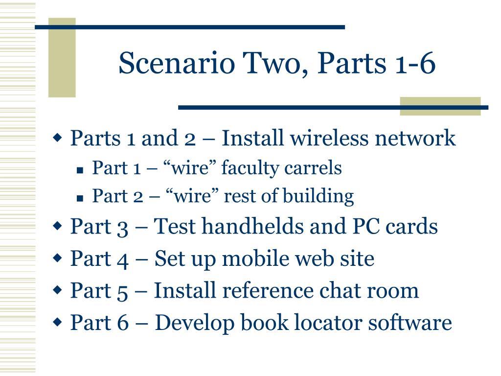 Scenario Two, Parts 1-6