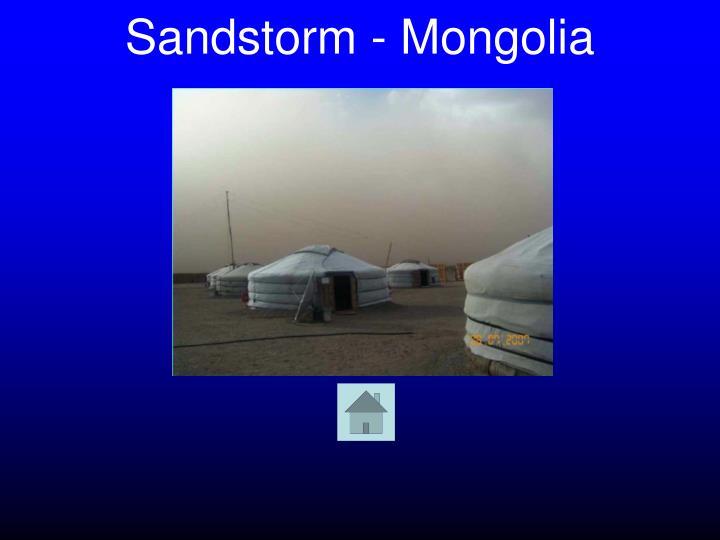 Sandstorm - Mongolia