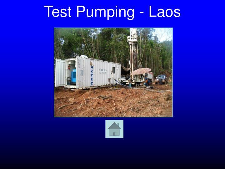 Test Pumping - Laos
