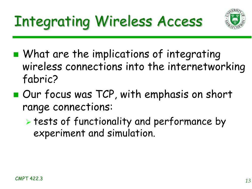 Integrating Wireless Access